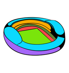 football soccer stadium icon icon cartoon vector image vector image