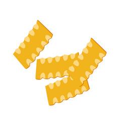 mafaldine pasta uncooked italian pasta macaroni vector image vector image