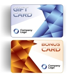 Plastic Gift and Bonus Cards vector image vector image