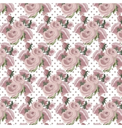 Roses Vintage pattern dotted card vector image vector image
