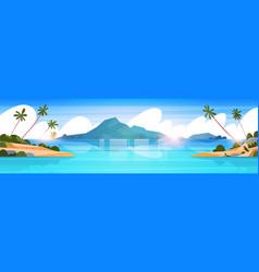 beautiful tropical beach landscape summer seaside vector image vector image