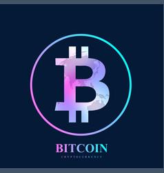 bitcoin physical bit coin bitcoin digital vector image