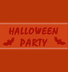 halloween party on orange vector image