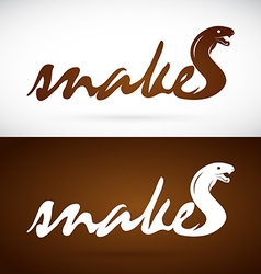 image of an design snake is text vector image