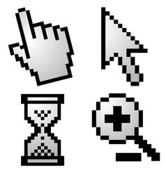 Pixelated computer cursors vector