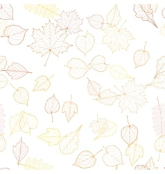Seamless autumn leaves pattern template vector image
