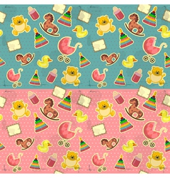 seamless infant deco pattern vector image vector image