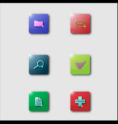 3 d smartphone app icons vector image