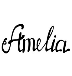 Amelia name lettering vector