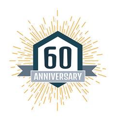 Anniversary logo 60th Anniversary 60 vector image