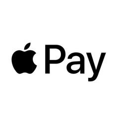 Apple pay logo vector
