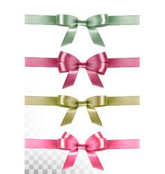 big set of colorful gift bows and ribbons vector image