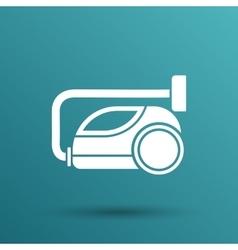 Black cleaner icon vacuum symbol electric vector