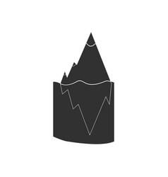 Black icon on white background iceberg in water vector