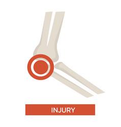 Bone injury joint damage isolated skeleton part vector