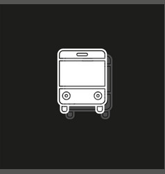 Bus - shuttle bus symbol travel icon vector