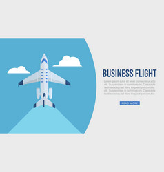 business flight web template vector image