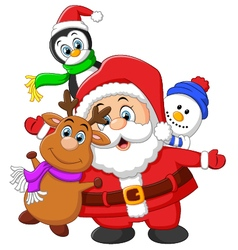 Cartoon christmas doll collections vector