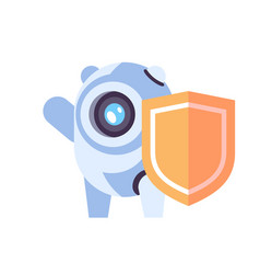 Chat bot robot shield protection concept vector