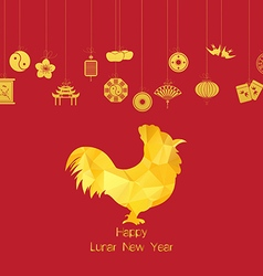 Chinese new year Year of Rooster vector