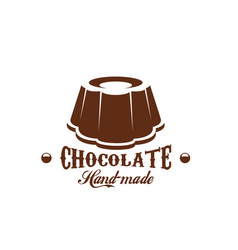 chocolate cake patisserie candy shop icon vector image