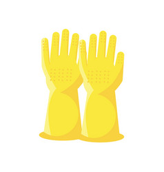 Cleaning gloves on white background vector
