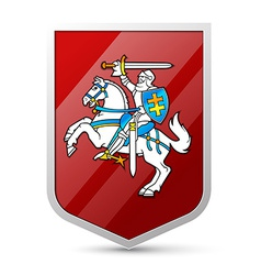 coat arms lithuania vector image
