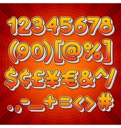 Comic Colorful Numbers vector image