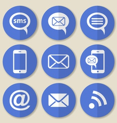 Communication flat icons vector image