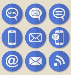 Communication flat icons vector