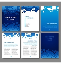 Cover table of contents and 3 internal pages blue vector