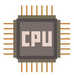 Cpu icon cartoon style vector