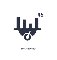 Dashboard icon on white background simple element vector