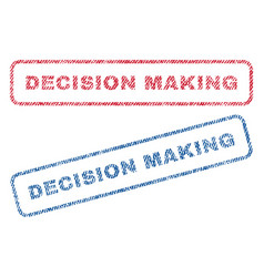 decision making textile stamps vector image