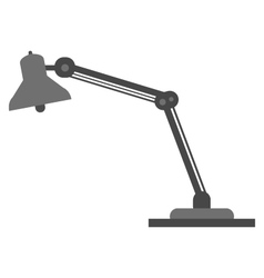 Desk lamp on white background vector image
