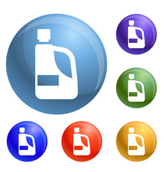 detergent hand bottle icons set vector image