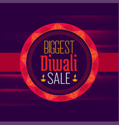 Diwali sale poster design template in ethnic style vector