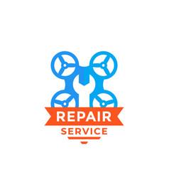 Drone repair service logo vector