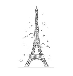 Eiffel tower paris icon design vector