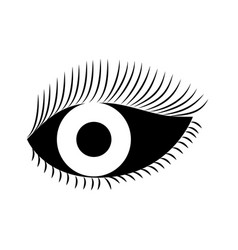eye look eyelashes vision cartoon vector image