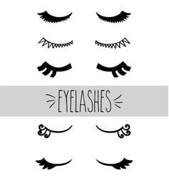eyelashes hand sketch vector image