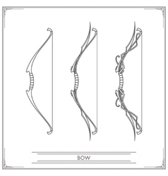 Fantasy Bow Lineart vector