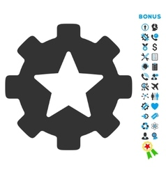 Favorites Options Flat Icon with Bonus vector image