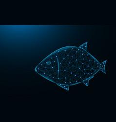 Fish low poly design aquatic animal abstract vector