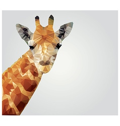 Geometric polygonal giraffe triangle pattern vector image