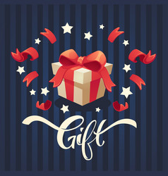 gift and present background with present box and vector image