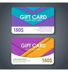 gift cards in style material design vector image