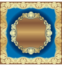 golden border vector image