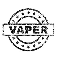Grunge textured vaper stamp seal vector