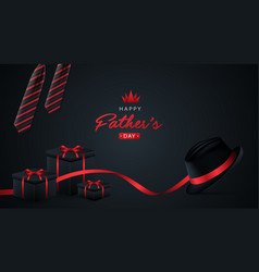 Happy fathers day black background for greeting vector